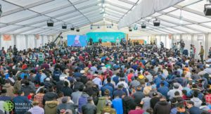 Kahalifathul Masih addresses over 5,500 Muslim youths from across the UK.
