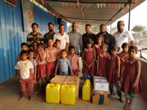 Charity kits distributed at Dharamveer Shambhu Raje Pratisthaan Orphanage by Majlis Khuddamul Ahmadiyya Pune.