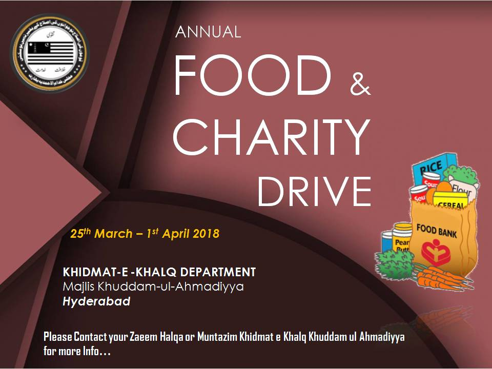 MKA Hyderabad conducts Annual Food and Charity Drive for the needy