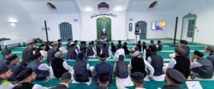 Members of Waqf-e-Nau France meet with Hazrat Khalifatul Masih V