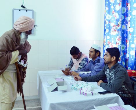Medicine distribution at Eye Camp organised by  MKA Bharat at Noor Hospital