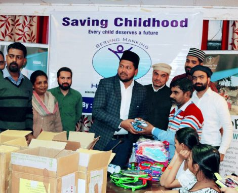 "Sadr Sahib MKA Bharat at New Delhi during  ""Saving Childhood"" program."