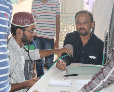 Free Medical camp organized by MKA Hyderabad