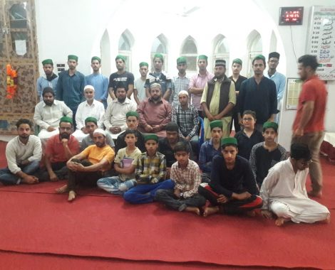 Sadr Majlis Khuddamul Ahmadiyya Bharat meeting with MKA Shurat & Nasirabad at Jammu and Kashmir.