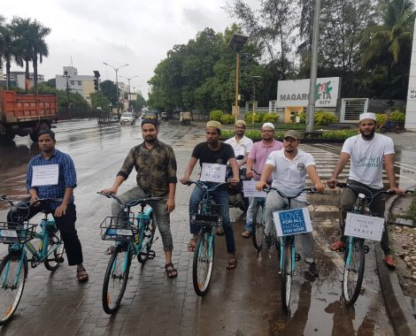 """""""Ride for peace"""" cycle rally organized by MKA  Pune"""