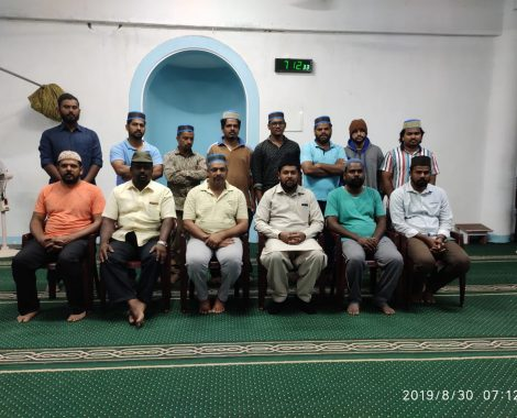 Jb. Tariq Ahmad Sahib with Members of MKA Coimbatore, Tamil Nadu